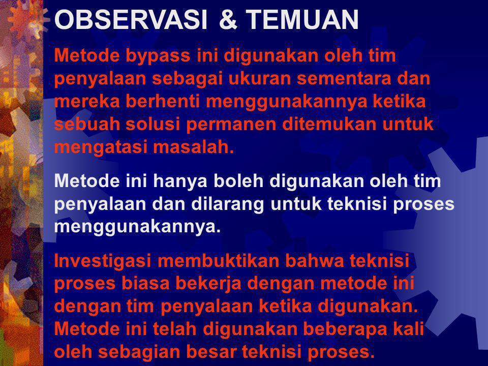 OBSERVASI & TEMUAN