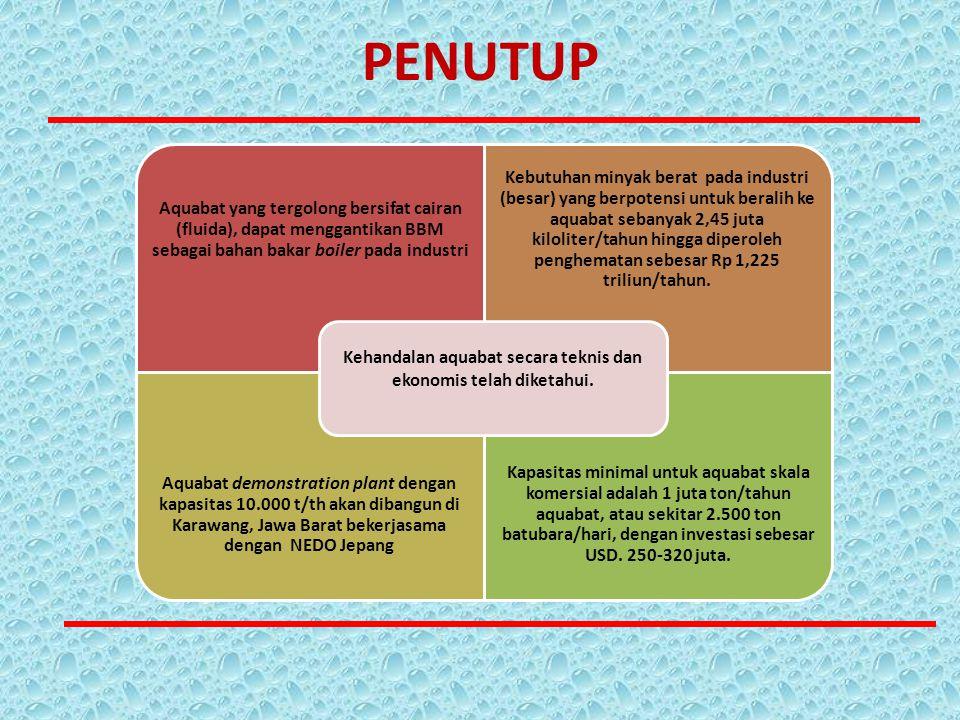 Kehandalan aquabat secara teknis dan ekonomis telah diketahui.