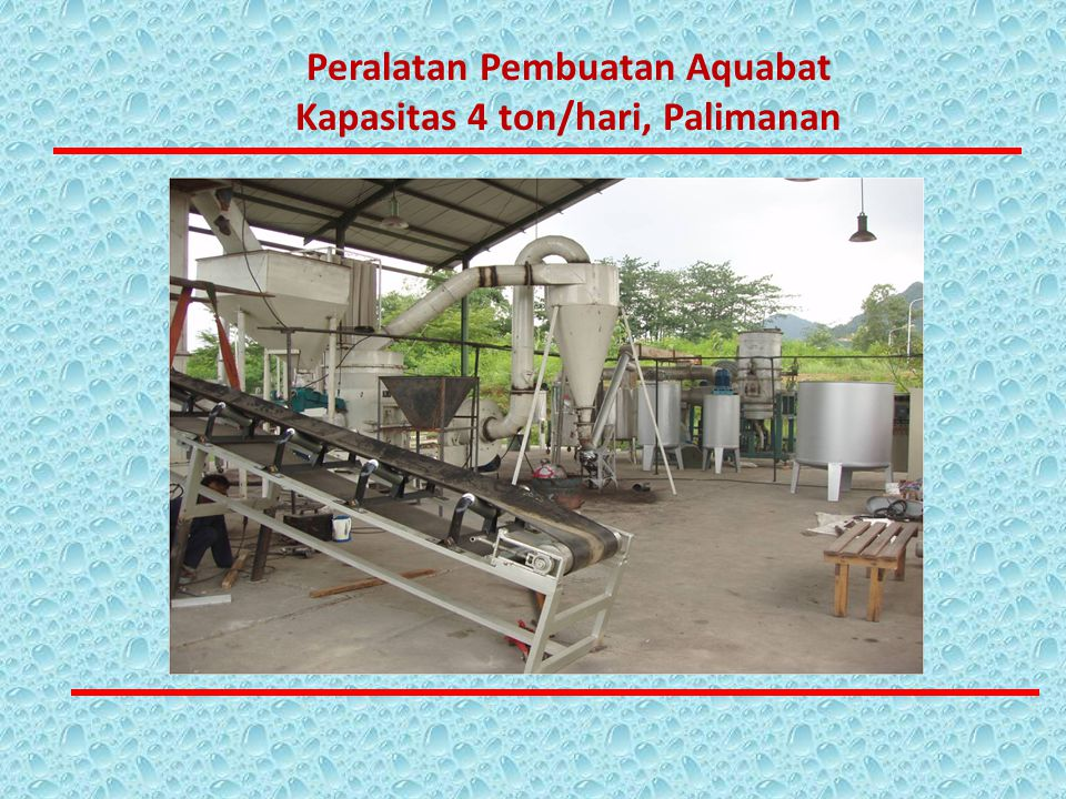 Peralatan Pembuatan Aquabat Kapasitas 4 ton/hari, Palimanan