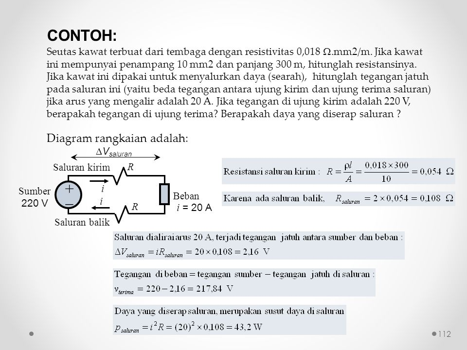 CONTOH: +  Diagram rangkaian adalah: