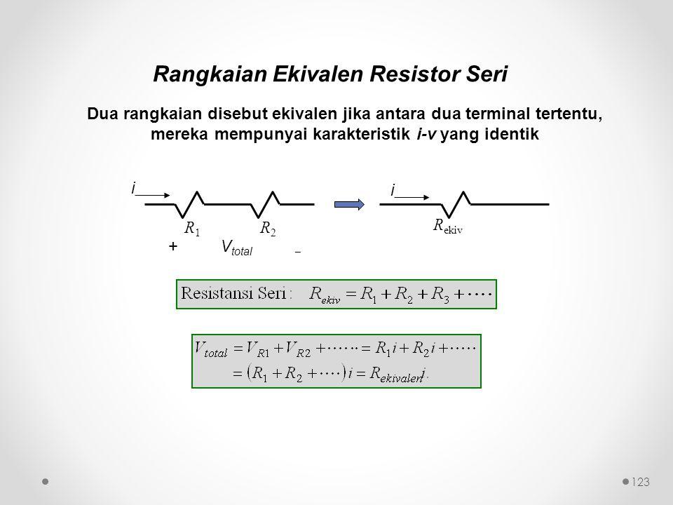 Rangkaian Ekivalen Resistor Seri