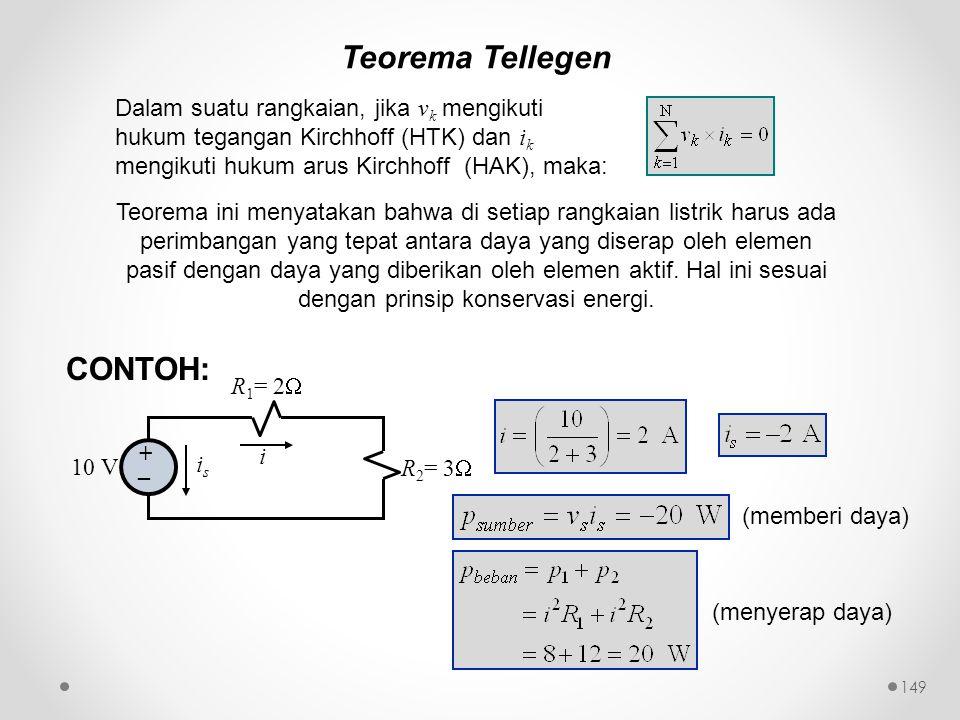 Teorema Tellegen CONTOH: