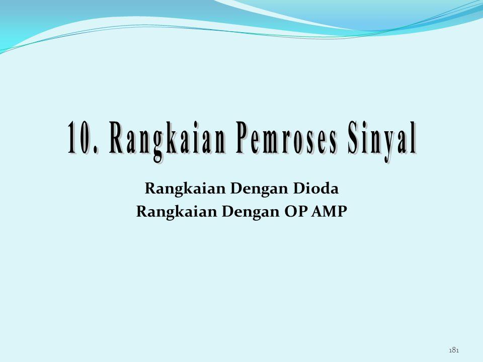 10. Rangkaian Pemroses Sinyal