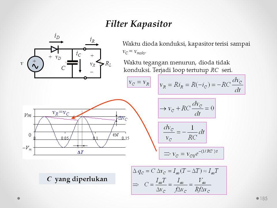 Filter Kapasitor iD iR iC vR=vC C yang diperlukan
