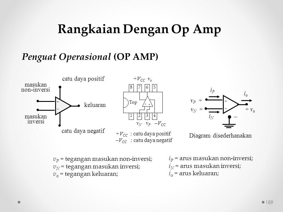 Rangkaian Dengan Op Amp