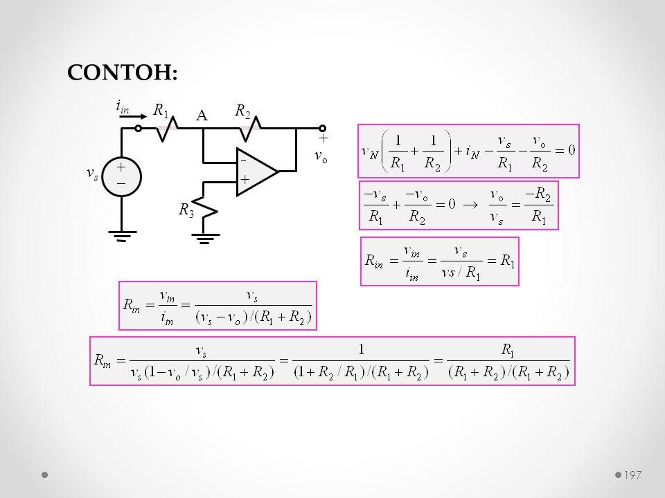 CONTOH: R2 +  vo R1 R3 vs A iin