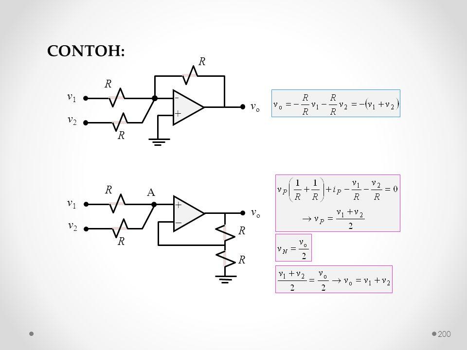 CONTOH:  + v2 vo v1 R +  v2 vo v1 R A