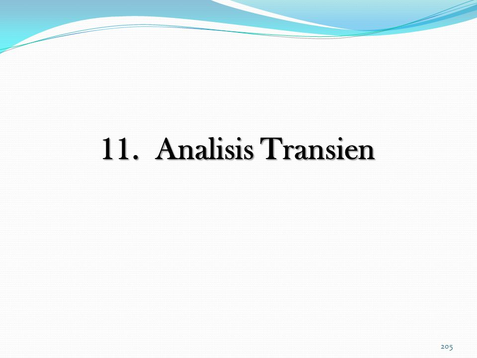 11. Analisis Transien