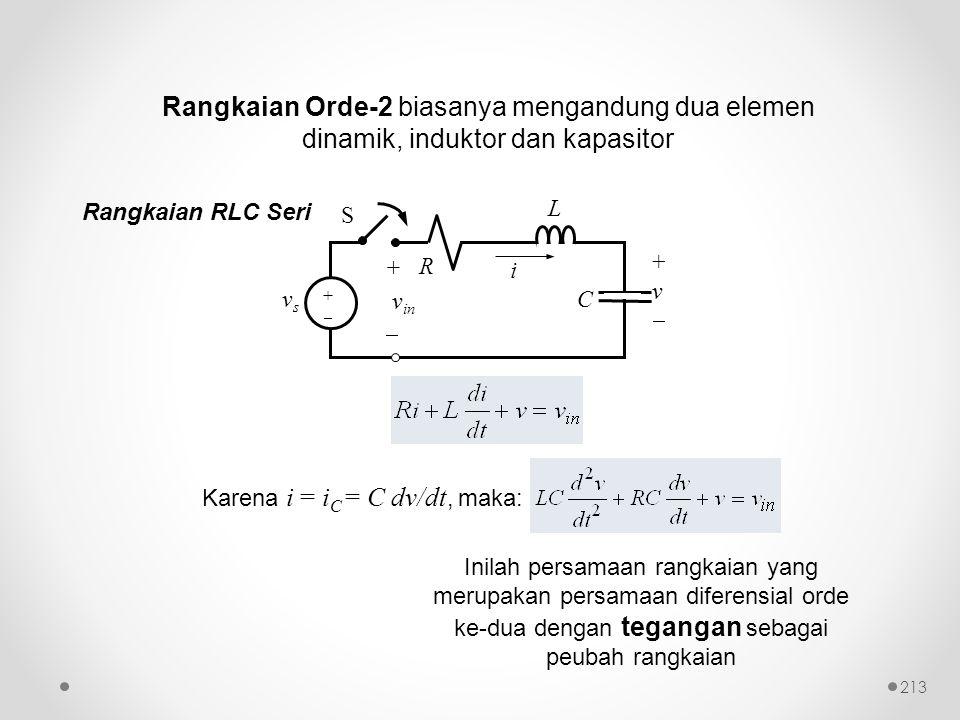 Rangkaian Orde-2 biasanya mengandung dua elemen dinamik, induktor dan kapasitor