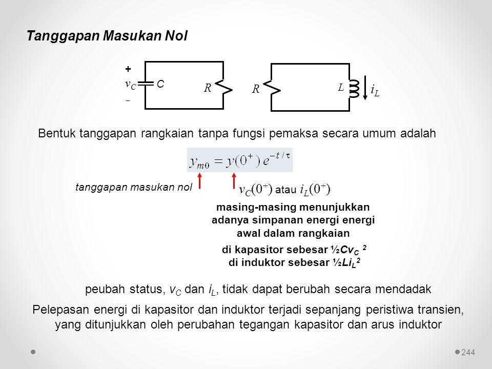 di kapasitor sebesar ½CvC 2 di induktor sebesar ½LiL2