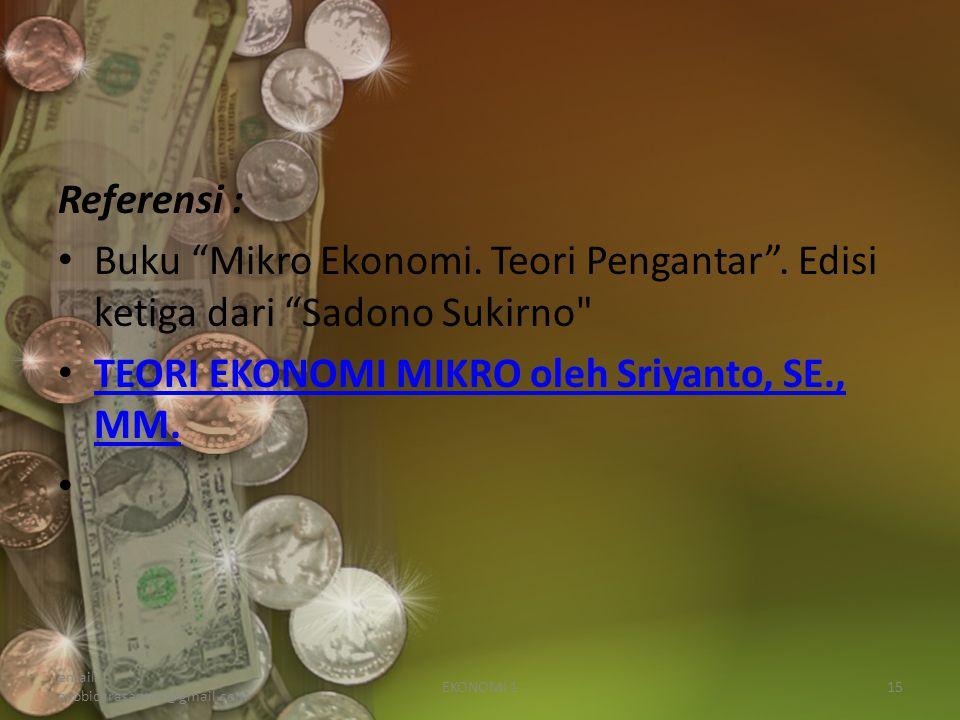TEORI EKONOMI MIKRO oleh Sriyanto, SE., MM.