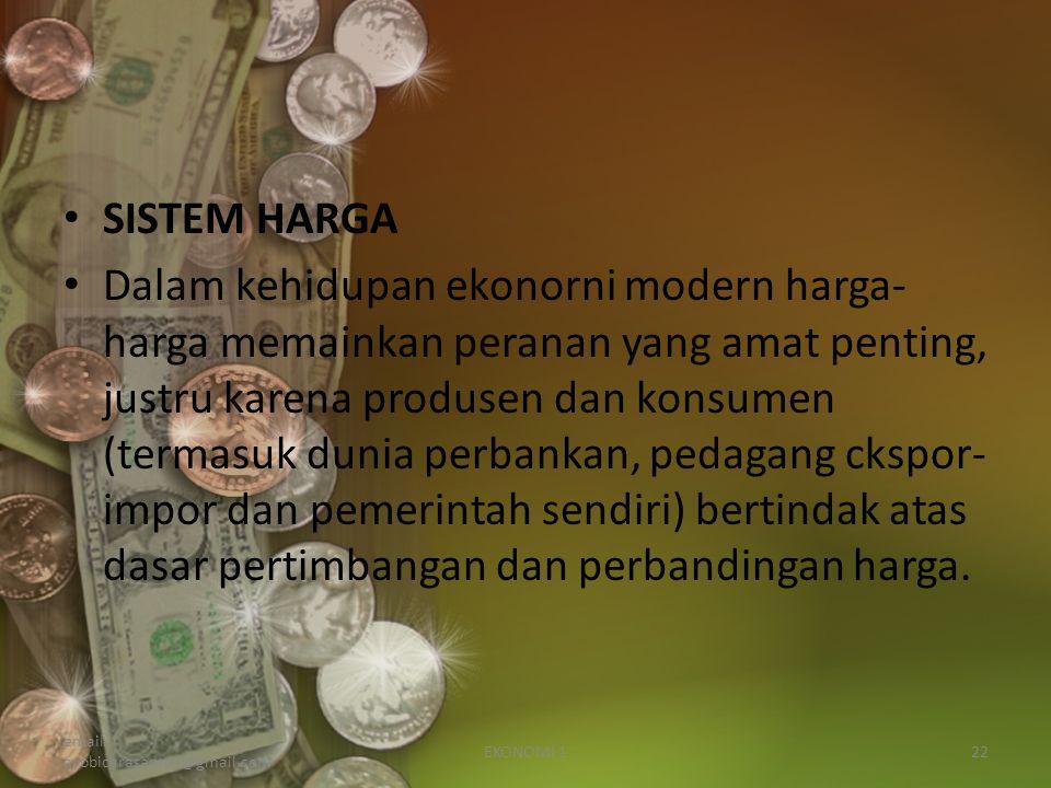 SISTEM HARGA