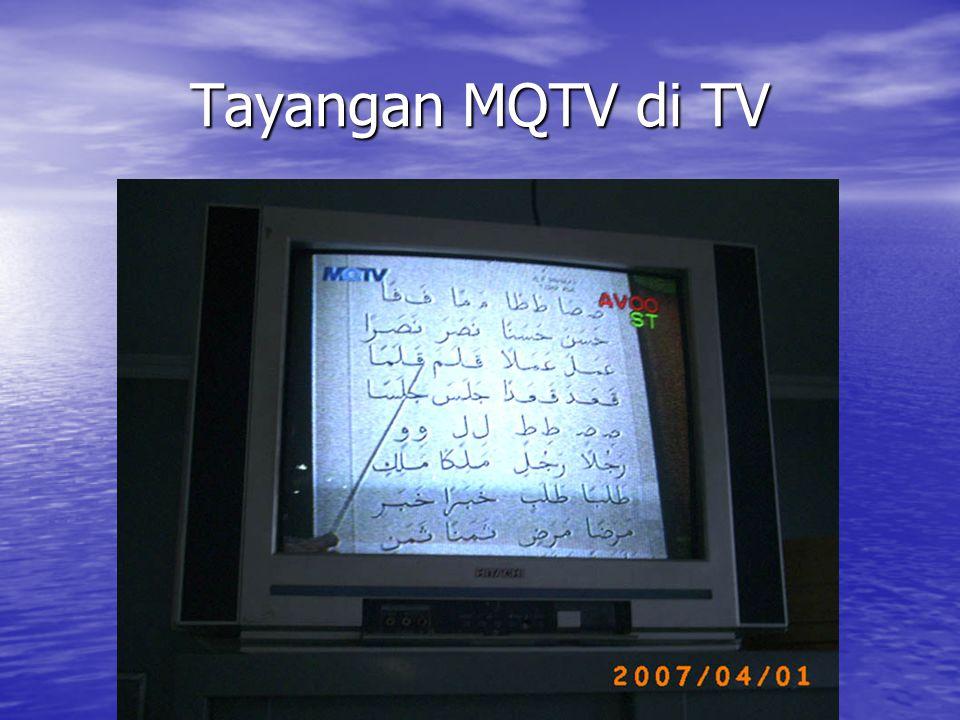 Tayangan MQTV di TV
