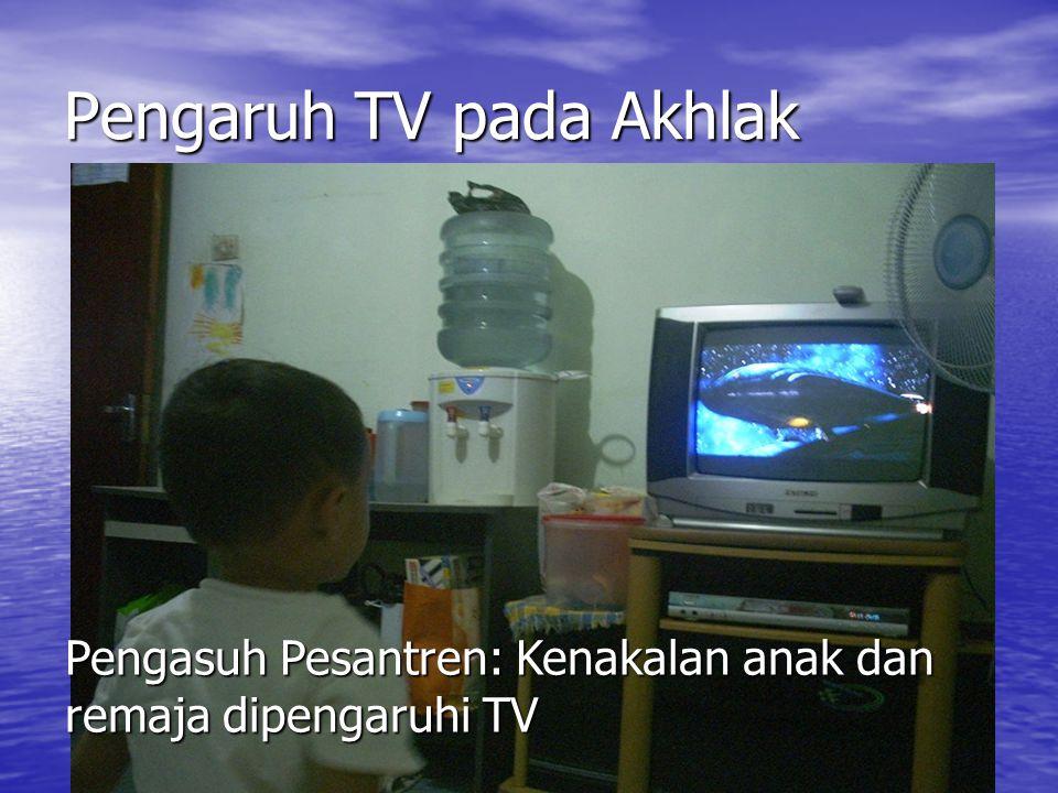 Pengaruh TV pada Akhlak