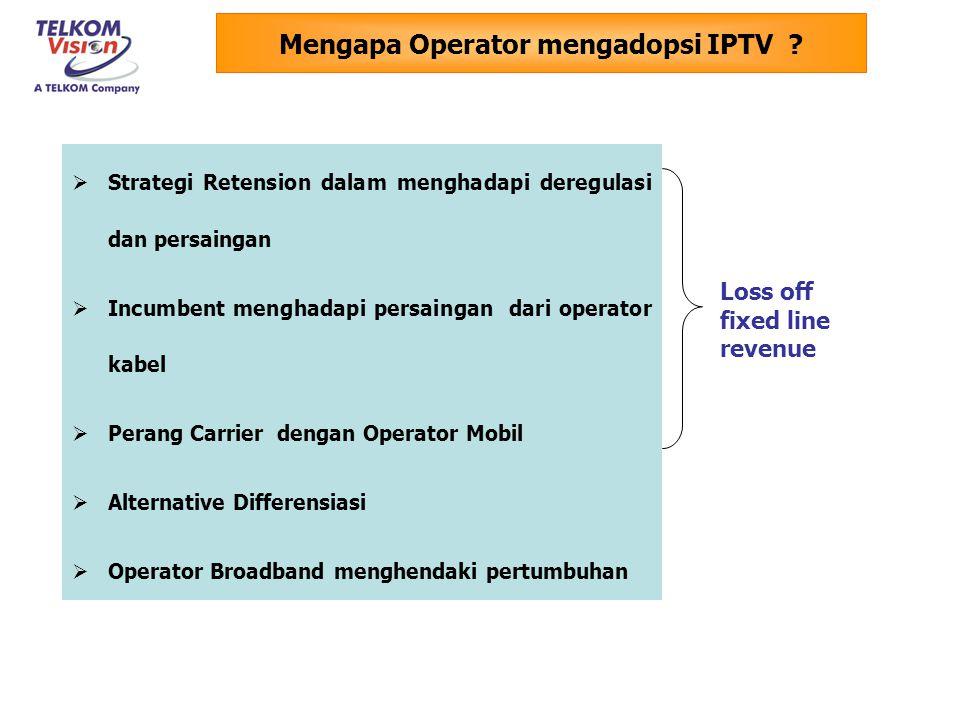 Mengapa Operator mengadopsi IPTV