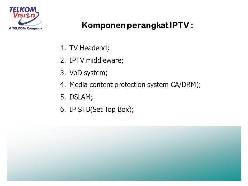 Komponen perangkat IPTV :
