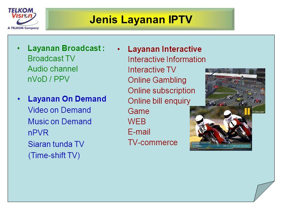 Jenis Layanan IPTV Layanan Broadcast : Layanan Interactive