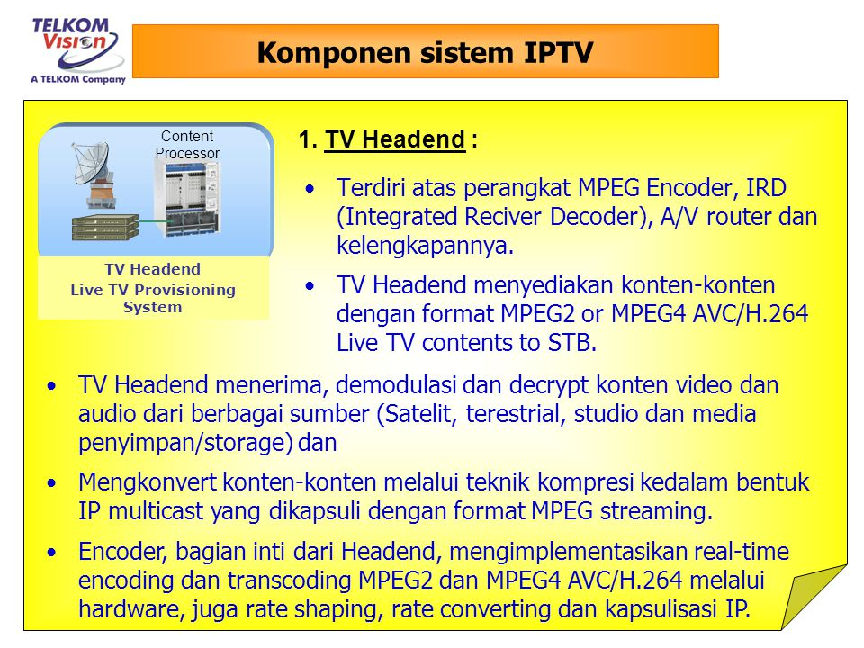 Live TV Provisioning System