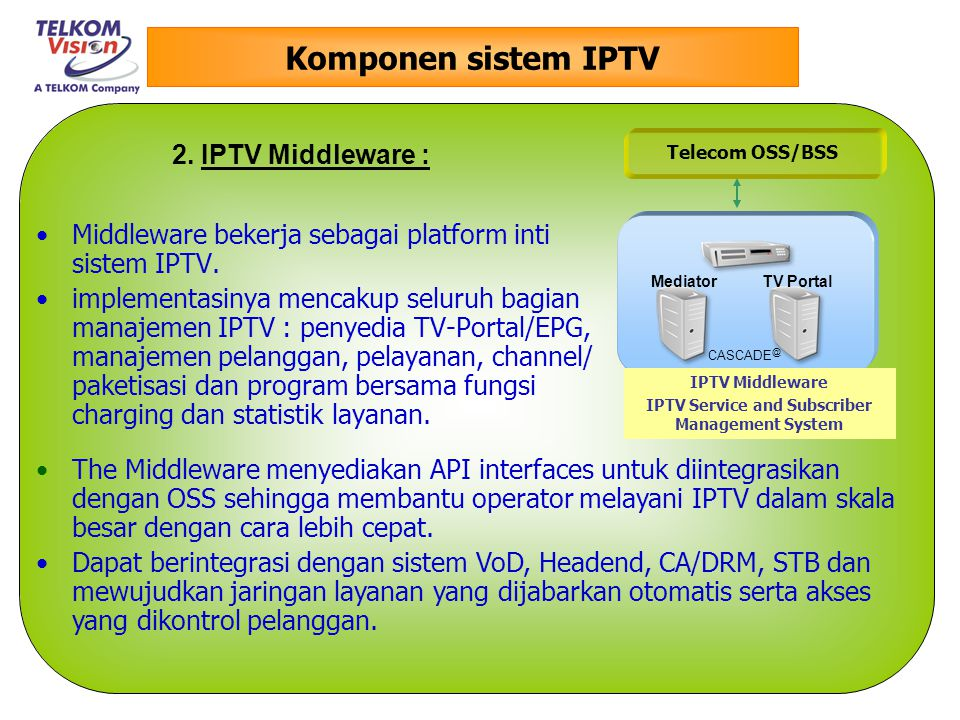 IPTV Service and Subscriber Management System