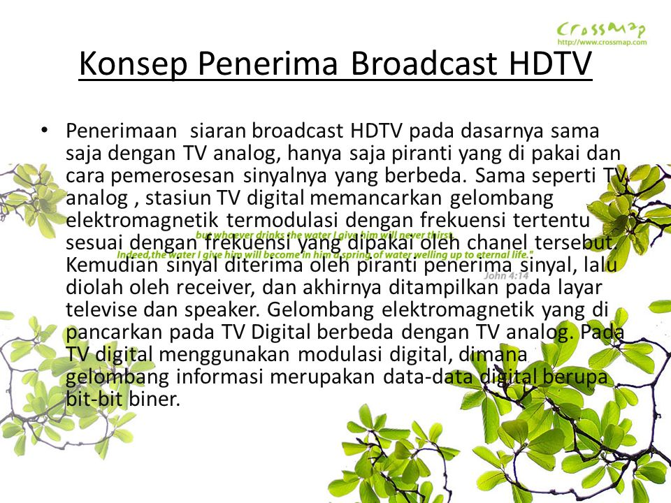 Konsep Penerima Broadcast HDTV