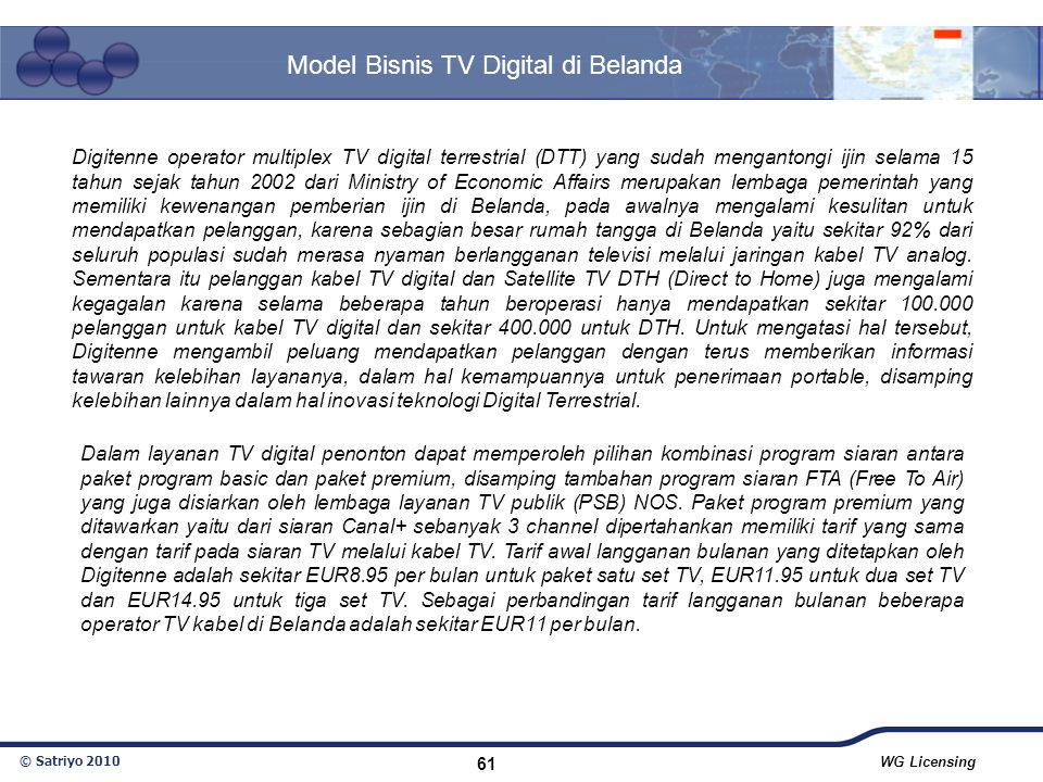 Model Bisnis TV Digital di Belanda
