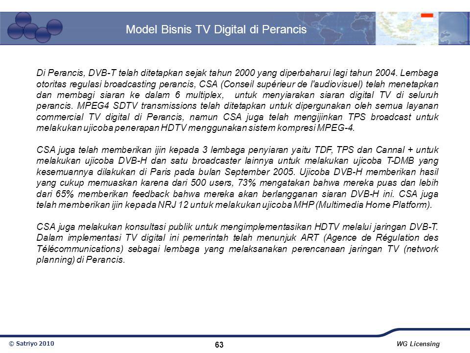 Model Bisnis TV Digital di Perancis