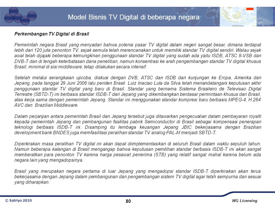 Model Bisnis TV Digital di beberapa negara