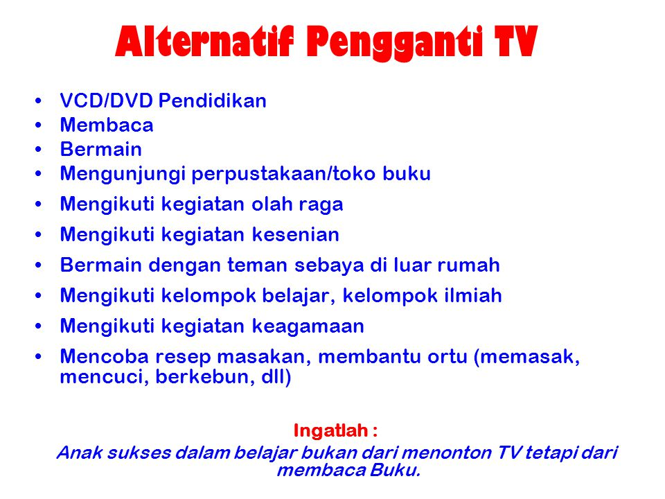 Alternatif Pengganti TV