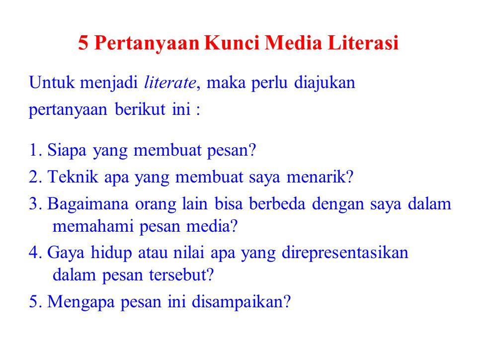 5 Pertanyaan Kunci Media Literasi