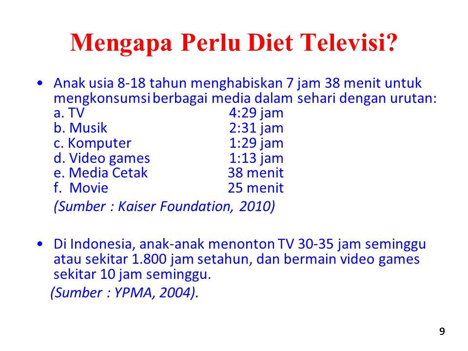 Mengapa Perlu Diet Televisi