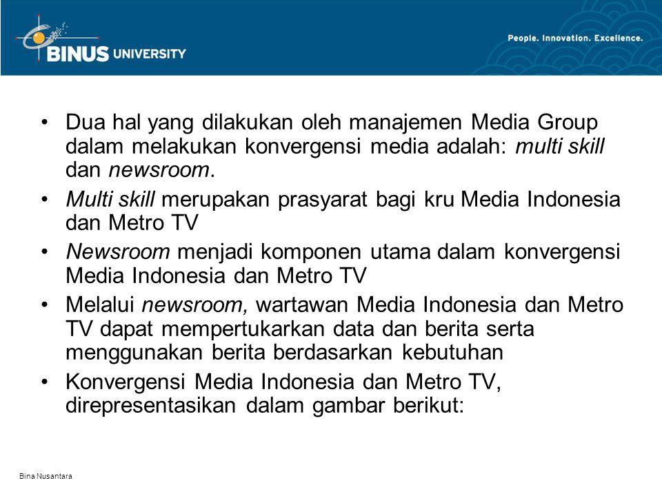 Multi skill merupakan prasyarat bagi kru Media Indonesia dan Metro TV
