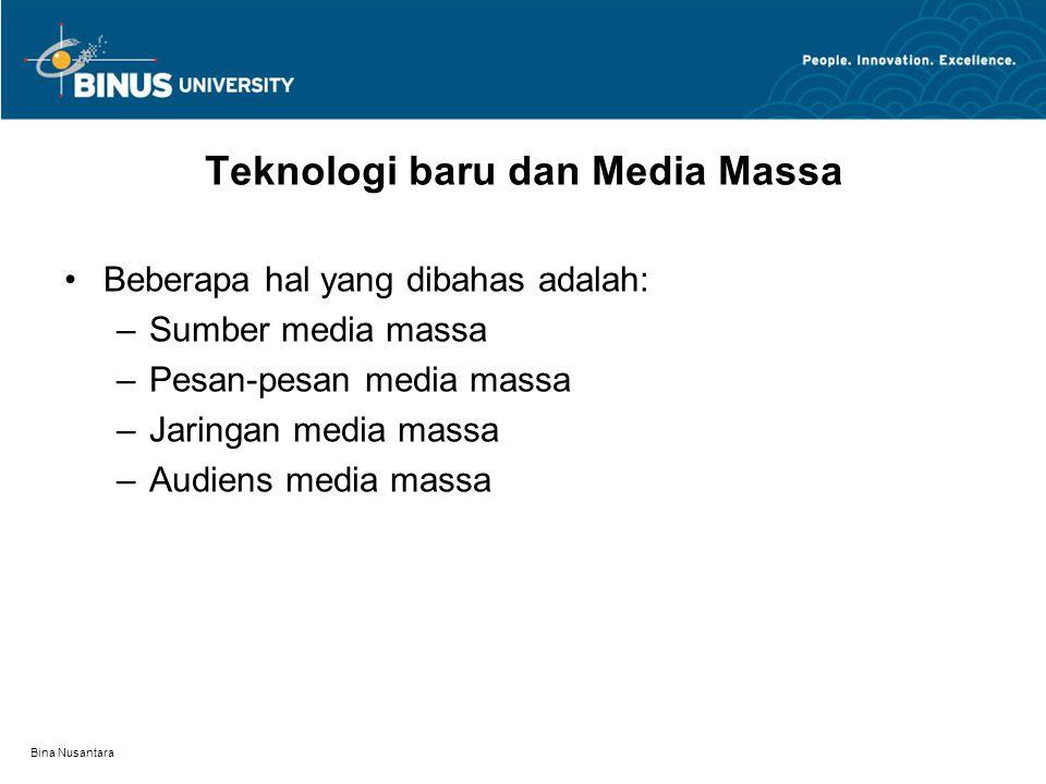 Teknologi baru dan Media Massa
