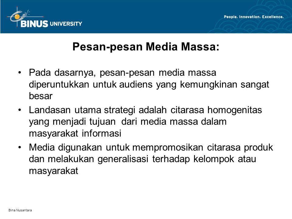 Pesan-pesan Media Massa: