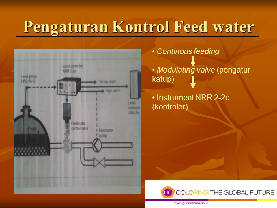 Pengaturan Kontrol Feed water