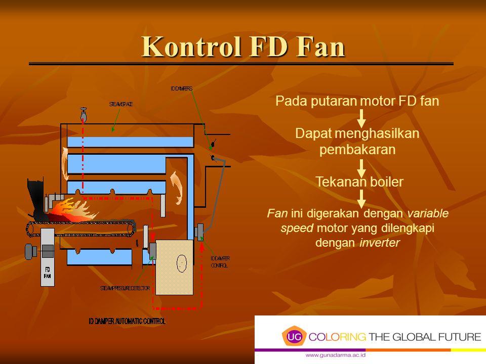 Kontrol FD Fan Pada putaran motor FD fan Dapat menghasilkan pembakaran
