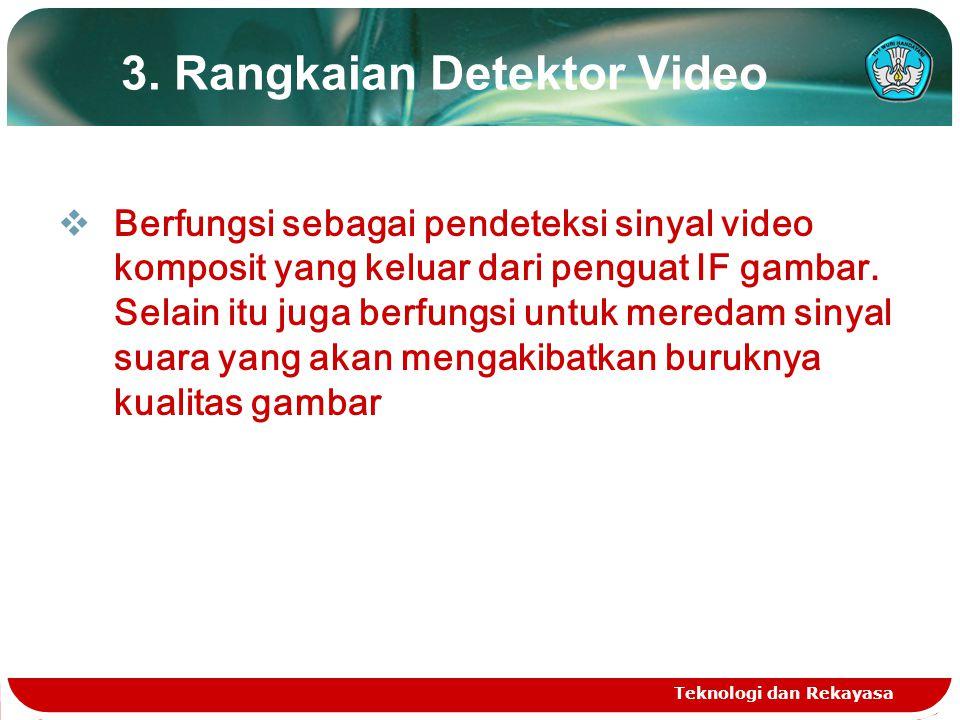 3. Rangkaian Detektor Video
