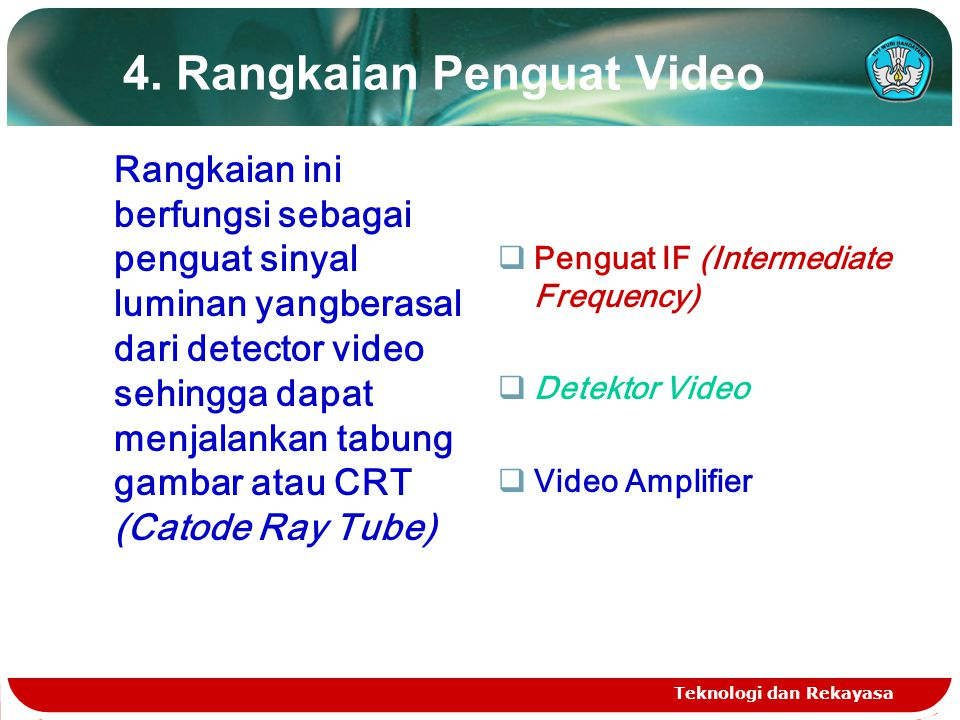 4. Rangkaian Penguat Video