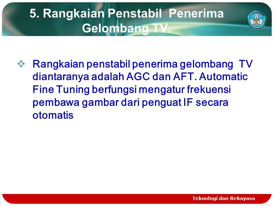 5. Rangkaian Penstabil Penerima Gelombang TV.