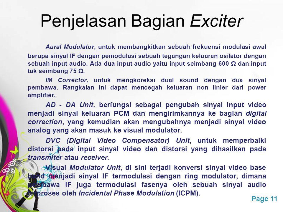 Penjelasan Bagian Exciter