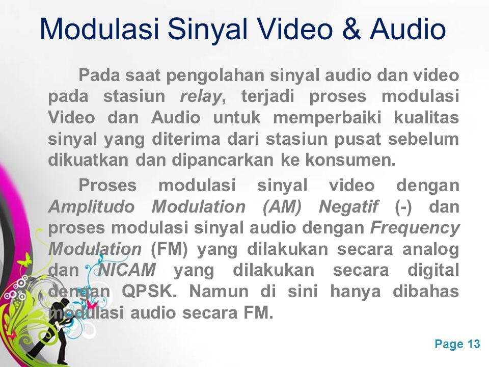 Modulasi Sinyal Video & Audio