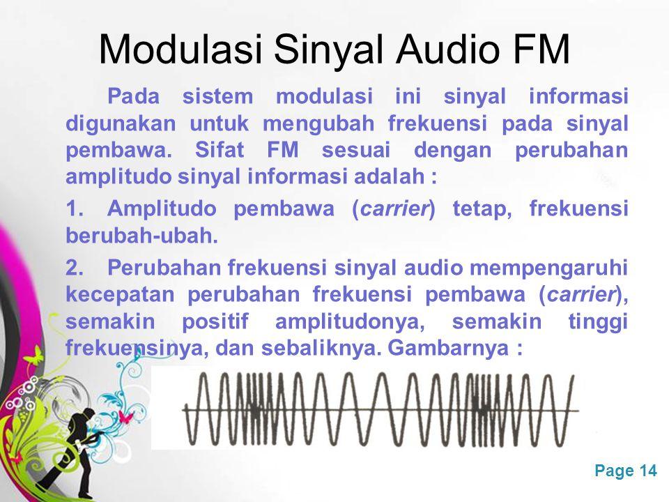 Modulasi Sinyal Audio FM