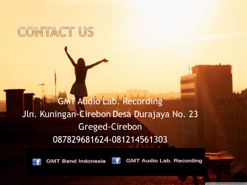 contact us GMT Audio Lab. Recording Jln. Kuningan-Cirebon Desa Durajaya No.
