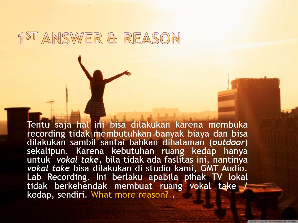 1st answer & reason