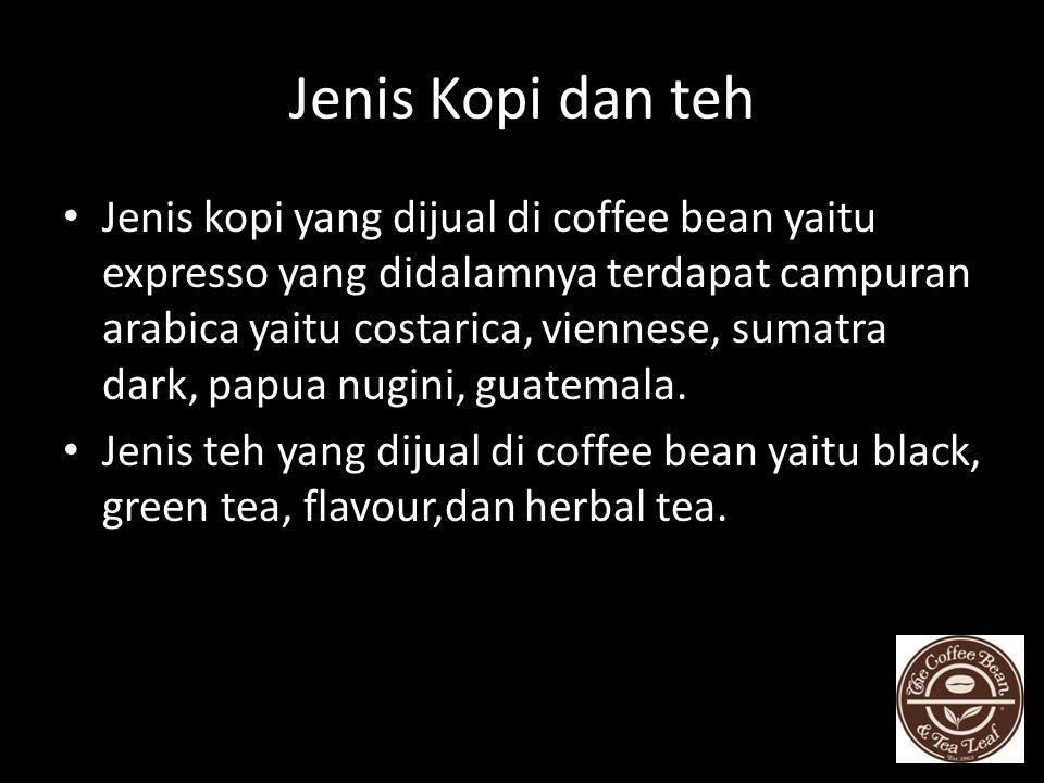 Jenis Kopi dan teh