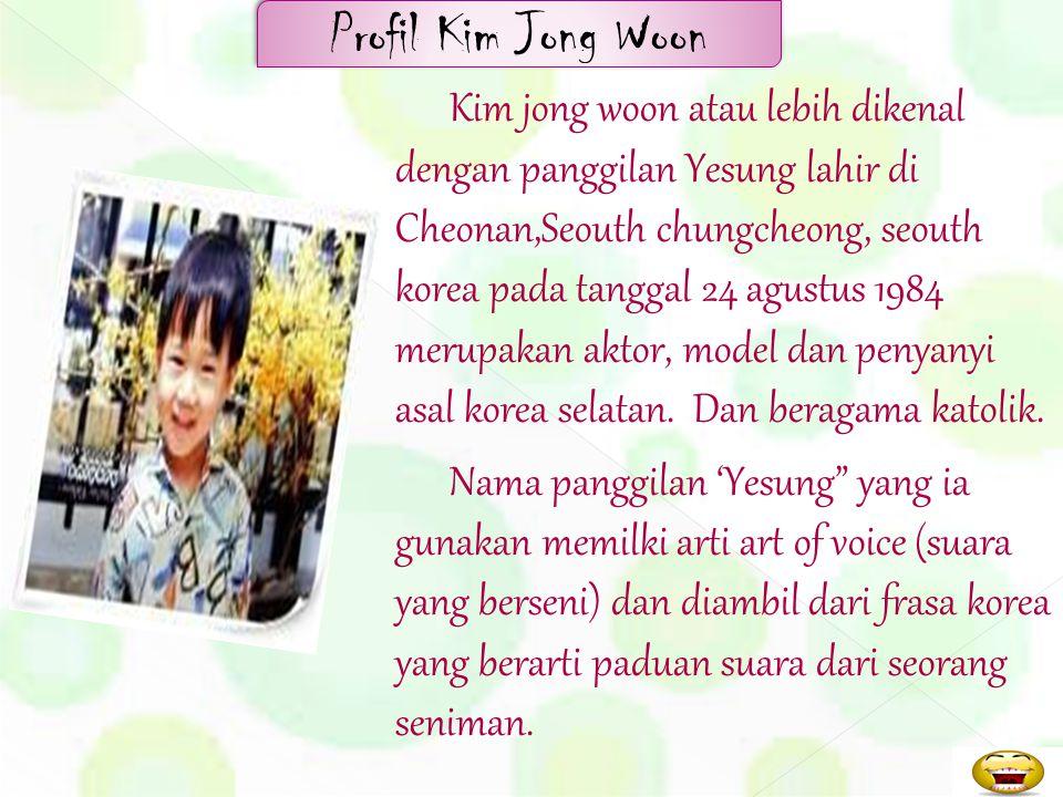 Profil Kim Jong Woon