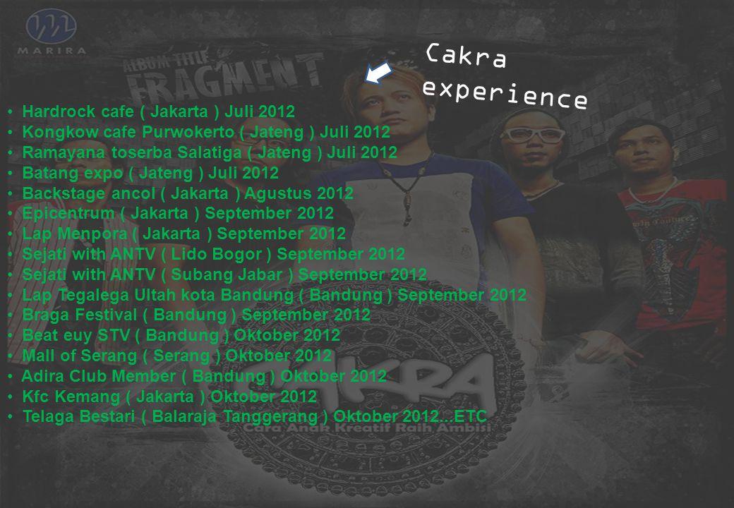 Cakra experience Hardrock cafe ( Jakarta ) Juli 2012