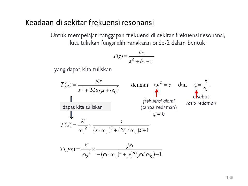 Keadaan di sekitar frekuensi resonansi