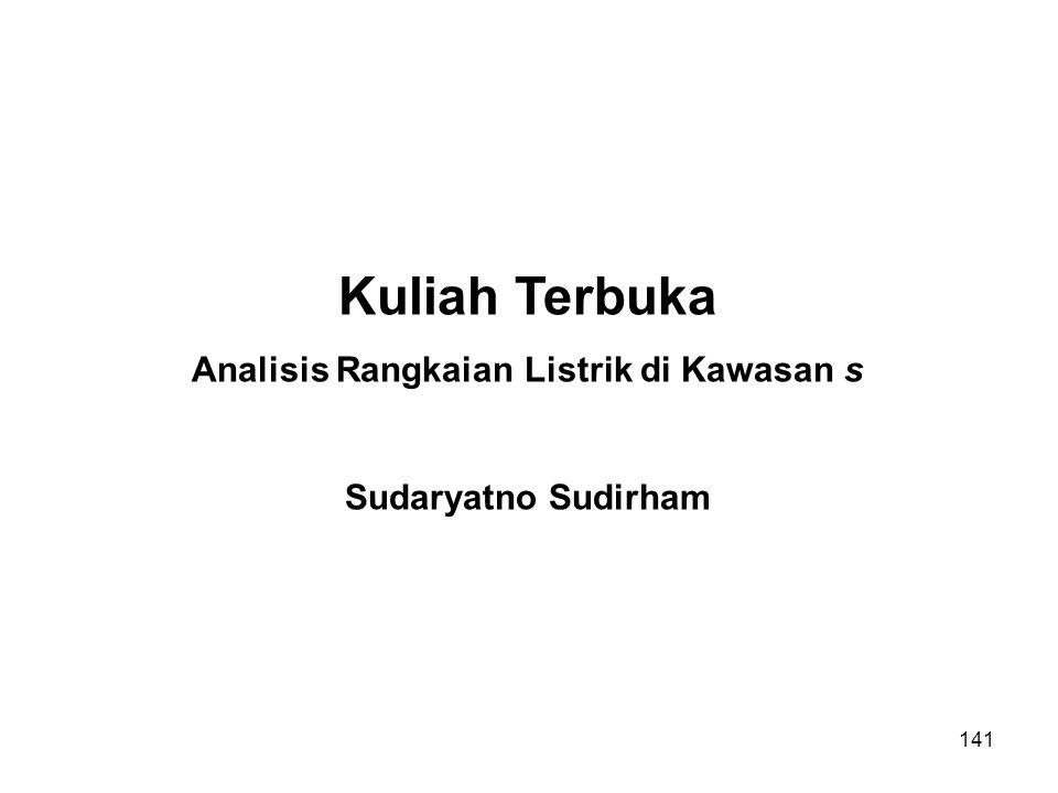 Analisis Rangkaian Listrik di Kawasan s
