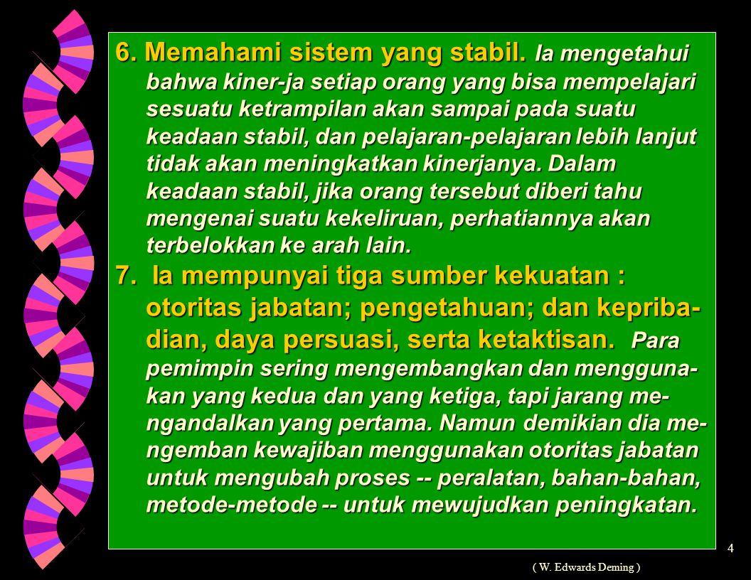 6. Memahami sistem yang stabil