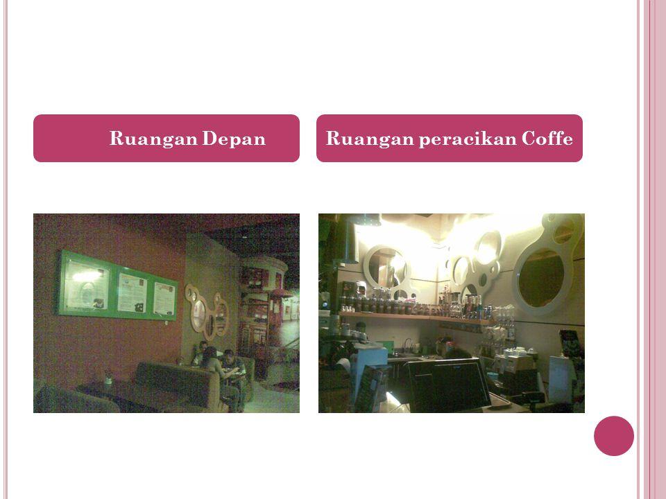 Ruangan Depan Ruangan peracikan Coffe
